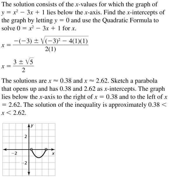 Big Ideas Math Algebra 2 Answer Key Chapter 3 Quadratic Equations and Complex Numbers 3.6 a 35