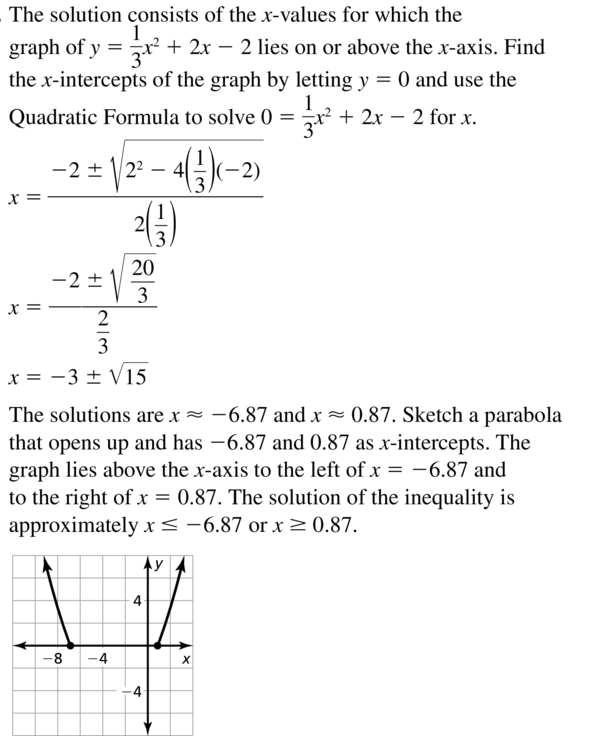 Big Ideas Math Algebra 2 Answer Key Chapter 3 Quadratic Equations and Complex Numbers 3.6 a 41
