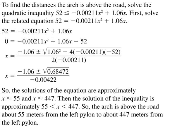 Big Ideas Math Algebra 2 Answer Key Chapter 3 Quadratic Equations and Complex Numbers 3.6 a 45