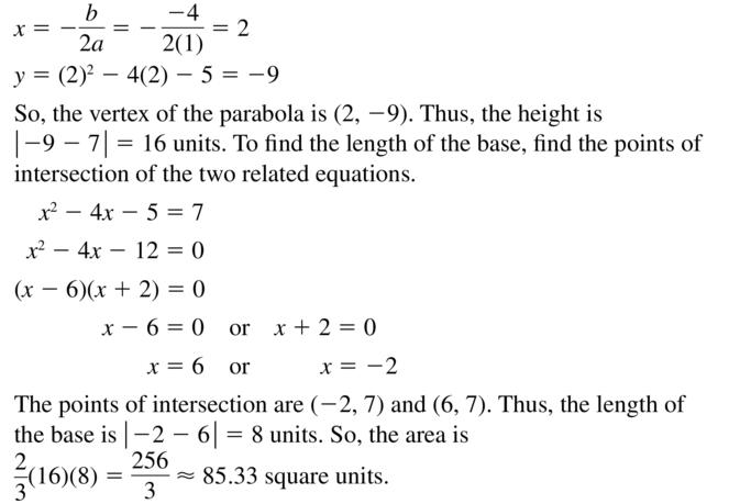 Big Ideas Math Algebra 2 Answer Key Chapter 3 Quadratic Equations and Complex Numbers 3.6 a 51.2