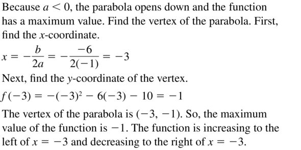 Big Ideas Math Algebra 2 Answer Key Chapter 3 Quadratic Equations and Complex Numbers 3.6 a 57