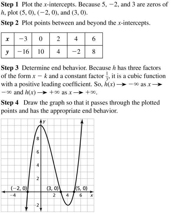 Big Ideas Math Algebra 2 Answer Key Chapter 4 Polynomial Functions 4.8 a 11