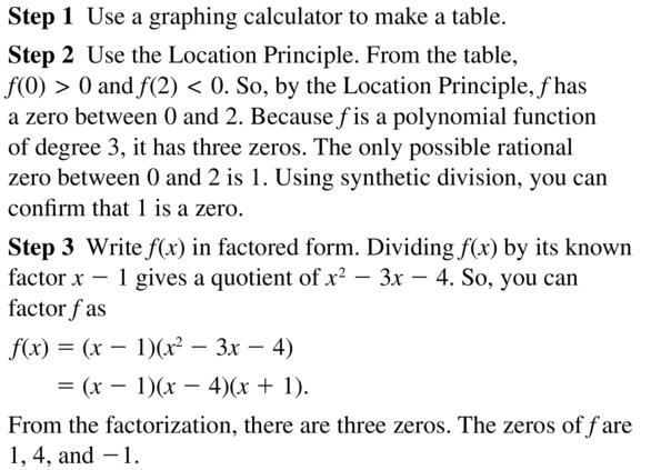 Big Ideas Math Algebra 2 Answer Key Chapter 4 Polynomial Functions 4.8 a 17