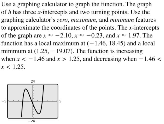 Big Ideas Math Algebra 2 Answer Key Chapter 4 Polynomial Functions 4.8 a 29