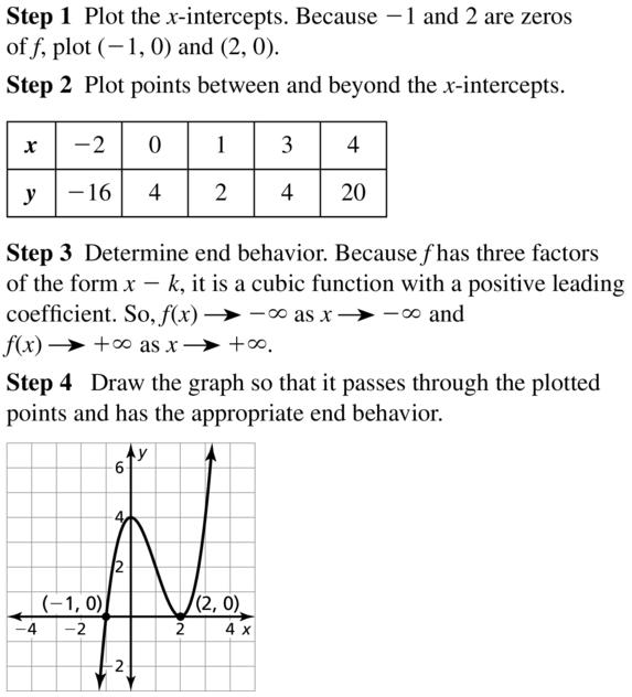 Big Ideas Math Algebra 2 Answer Key Chapter 4 Polynomial Functions 4.8 a 7