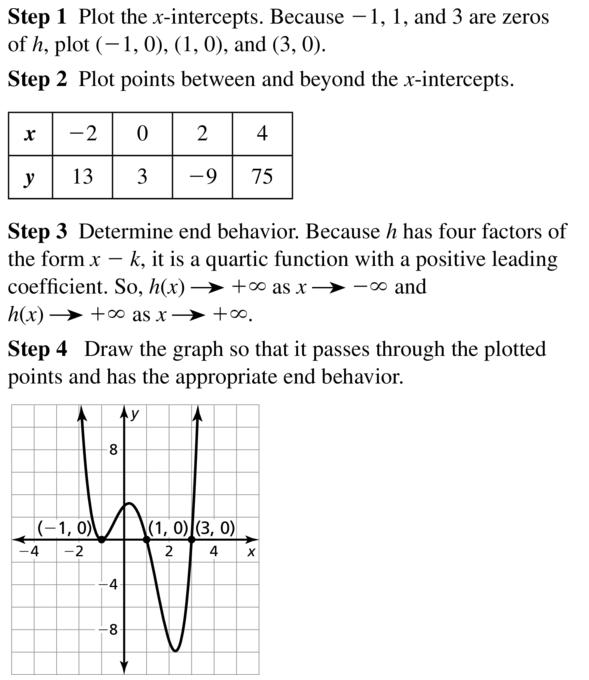 Big Ideas Math Algebra 2 Answer Key Chapter 4 Polynomial Functions 4.8 a 9