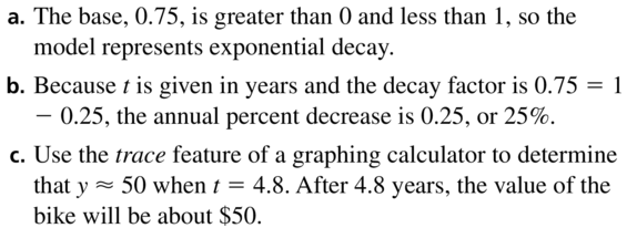 Big Ideas Math Algebra 2 Answer Key Chapter 6 Exponential and Logarithmic Functions 6.1 a 21