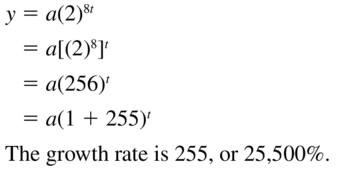 Big Ideas Math Algebra 2 Answer Key Chapter 6 Exponential and Logarithmic Functions 6.1 a 35