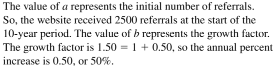 Big Ideas Math Algebra 2 Answer Key Chapter 6 Exponential and Logarithmic Functions 6.1 a 45