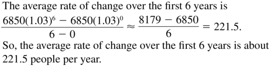 Big Ideas Math Algebra 2 Answer Key Chapter 6 Exponential and Logarithmic Functions 6.1 a 49