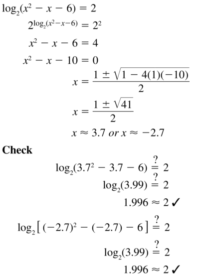 Big Ideas Math Algebra 2 Answer Key Chapter 6 Exponential and Logarithmic Functions 6.6 a 31