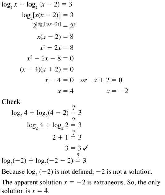 Big Ideas Math Algebra 2 Answer Key Chapter 6 Exponential and Logarithmic Functions 6.6 a 33