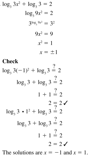 Big Ideas Math Algebra 2 Answer Key Chapter 6 Exponential and Logarithmic Functions 6.6 a 37