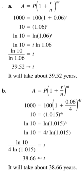 Big Ideas Math Algebra 2 Answer Key Chapter 6 Exponential and Logarithmic Functions 6.6 a 43.1