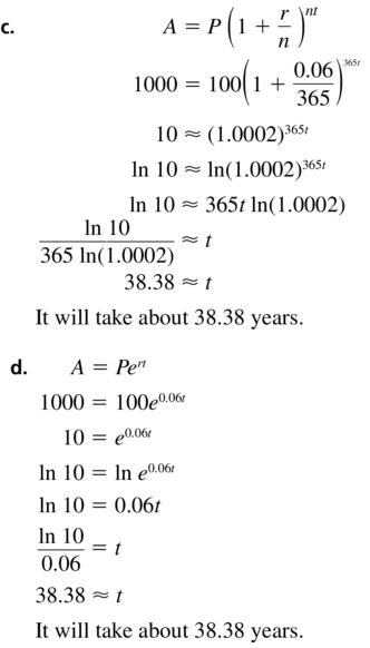 Big Ideas Math Algebra 2 Answer Key Chapter 6 Exponential and Logarithmic Functions 6.6 a 43.2