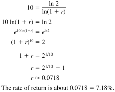Big Ideas Math Algebra 2 Answer Key Chapter 6 Exponential and Logarithmic Functions 6.6 a 57