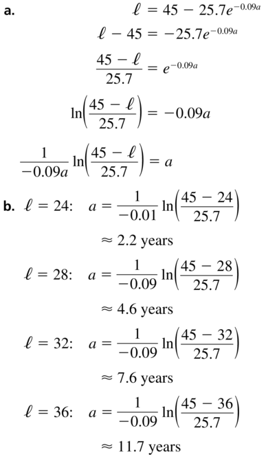 Big Ideas Math Algebra 2 Answer Key Chapter 6 Exponential and Logarithmic Functions 6.6 a 63