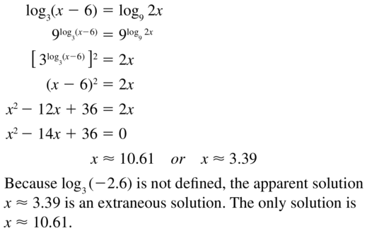Big Ideas Math Algebra 2 Answer Key Chapter 6 Exponential and Logarithmic Functions 6.6 a 69