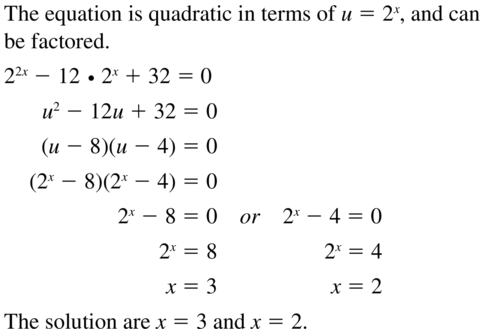 Big Ideas Math Algebra 2 Answer Key Chapter 6 Exponential and Logarithmic Functions 6.6 a 71