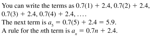 Big Ideas Math Algebra 2 Answer Key Chapter 8 Sequences and Series 8.1 a 17