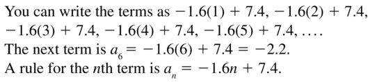 Big Ideas Math Algebra 2 Answer Key Chapter 8 Sequences and Series 8.1 a 19