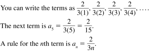 Big Ideas Math Algebra 2 Answer Key Chapter 8 Sequences and Series 8.1 a 23