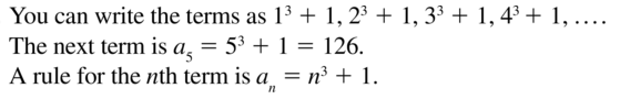 Big Ideas Math Algebra 2 Answer Key Chapter 8 Sequences and Series 8.1 a 25