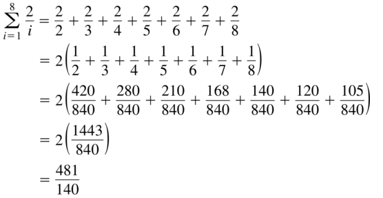 Big Ideas Math Algebra 2 Answer Key Chapter 8 Sequences and Series 8.1 a 45