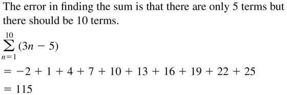 Big Ideas Math Algebra 2 Answer Key Chapter 8 Sequences and Series 8.1 a 51