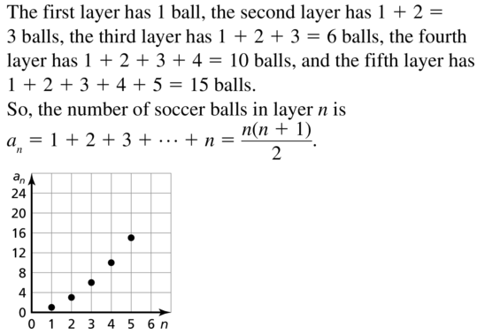 Big Ideas Math Algebra 2 Answer Key Chapter 8 Sequences and Series 8.1 a 55