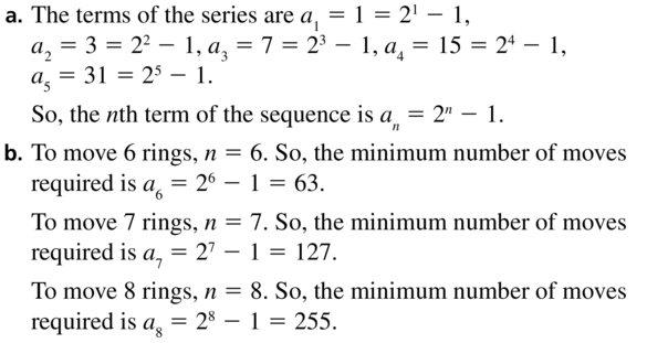Big Ideas Math Algebra 2 Answer Key Chapter 8 Sequences and Series 8.1 a 61