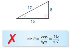 Big Ideas Math Algebra 2 Answer Key Chapter 9 Trigonometric Ratios and Functions 9.1 18