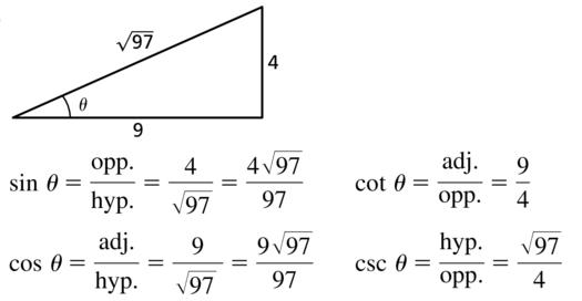 Big Ideas Math Algebra 2 Answer Key Chapter 9 Trigonometric Ratios and Functions 9.1 a 11