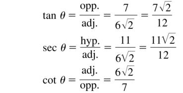 Big Ideas Math Algebra 2 Answer Key Chapter 9 Trigonometric Ratios and Functions 9.1 a 13.2