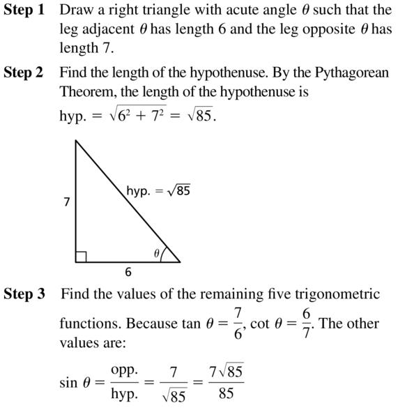 Big Ideas Math Algebra 2 Answer Key Chapter 9 Trigonometric Ratios and Functions 9.1 a 15.1