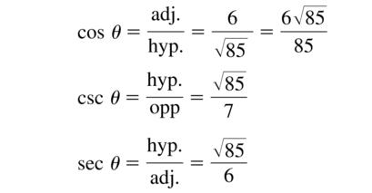 Big Ideas Math Algebra 2 Answer Key Chapter 9 Trigonometric Ratios and Functions 9.1 a 15.2