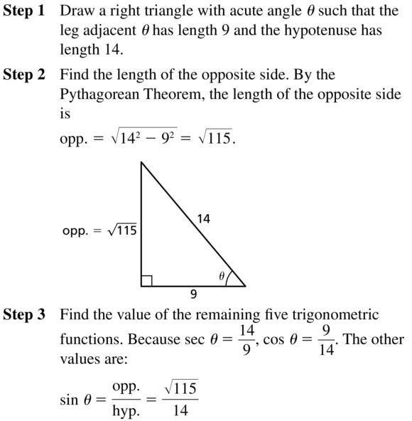Big Ideas Math Algebra 2 Answer Key Chapter 9 Trigonometric Ratios and Functions 9.1 a 17.1