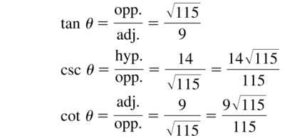 Big Ideas Math Algebra 2 Answer Key Chapter 9 Trigonometric Ratios and Functions 9.1 a 17.2