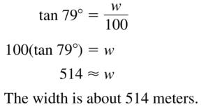 Big Ideas Math Algebra 2 Answer Key Chapter 9 Trigonometric Ratios and Functions 9.1 a 41