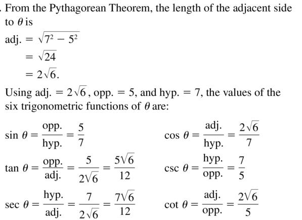 Big Ideas Math Algebra 2 Answer Key Chapter 9 Trigonometric Ratios and Functions 9.1 a 7