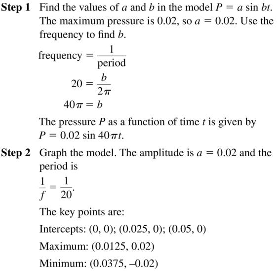 Big Ideas Math Algebra 2 Answer Key Chapter 9 Trigonometric Ratios and Functions 9.6 a 11.1