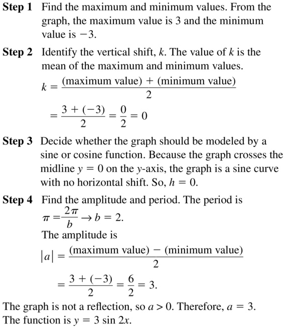 Big Ideas Math Algebra 2 Answer Key Chapter 9 Trigonometric Ratios and Functions 9.6 a 13