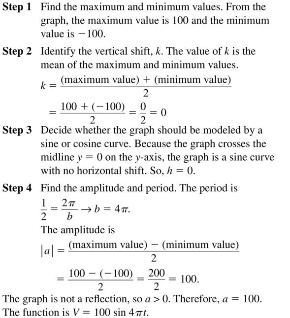 Big Ideas Math Algebra 2 Answer Key Chapter 9 Trigonometric Ratios and Functions 9.6 a 23