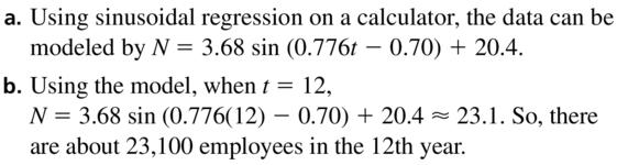 Big Ideas Math Algebra 2 Answer Key Chapter 9 Trigonometric Ratios and Functions 9.6 a 25