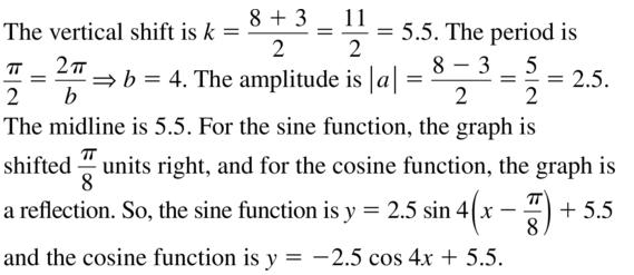 Big Ideas Math Algebra 2 Answer Key Chapter 9 Trigonometric Ratios and Functions 9.6 a 29