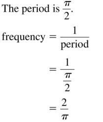 Big Ideas Math Algebra 2 Answer Key Chapter 9 Trigonometric Ratios and Functions 9.6 a 5