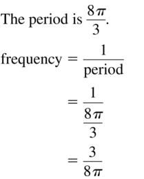 Big Ideas Math Algebra 2 Answer Key Chapter 9 Trigonometric Ratios and Functions 9.6 a 9
