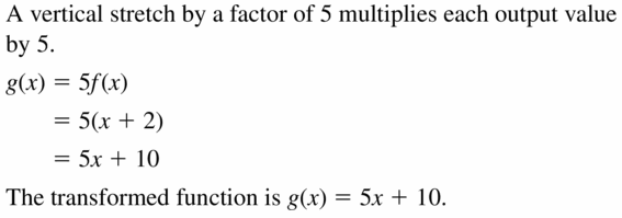 Big Ideas Math Algebra 2 Answers Chapter 1 Linear Functions 1.2 Question 17