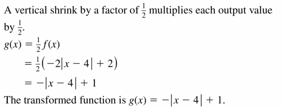 Big Ideas Math Algebra 2 Answers Chapter 1 Linear Functions 1.2 Question 21