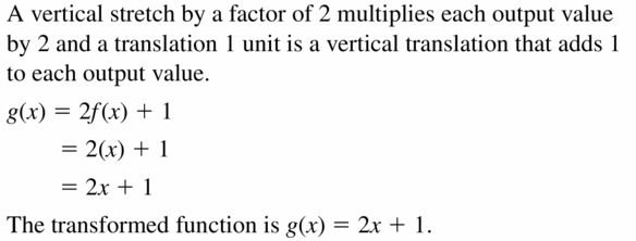 Big Ideas Math Algebra 2 Answers Chapter 1 Linear Functions 1.2 Question 27